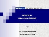Industrial Small Scale Mining - Esa