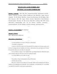 séance du 16 decembre 2010 zitting van 16 december ... - Koekelberg