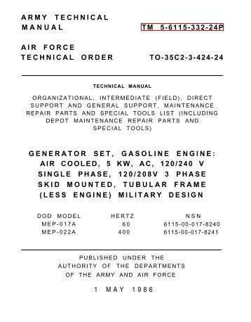 tm 9 6115 464 12 igor chudov rh yumpu com Operation and Maintenance Manual Template Operation and Maintenance Manual Template