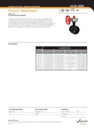 FireLock® Absperrklappe 10.81-GER - Victaulic