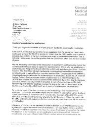 Letter to Dr Brian Keighley