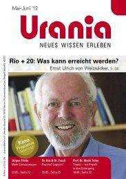 Rio + 20: Was kann erreicht werden? - Urania