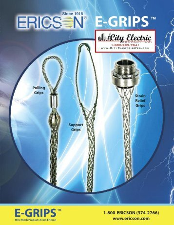 Ericson E- Grip Cross Reference - B.N. Yanow Companies