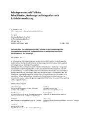 Rehabilitation, Nachsorge und Integration nach ... - BV ANR