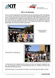 Externe Briefvorlage für alle Bereiche - am Institut für Baustatik - KIT