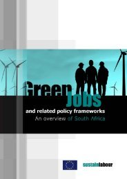 Green Jobs and related policy frameworks: An overview of ... - tips