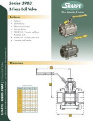 Series 3903 3-Piece Ball Valve - Sharpe® Valves