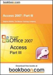 Access 2007: Part III Language English Format: PDF ... - Tutorsindia