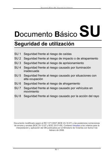 Documento Básico SU Seguridad de utilización - construmecum