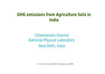 GHG Emissions from Agriculture Soils in India [PDF: 89KB]