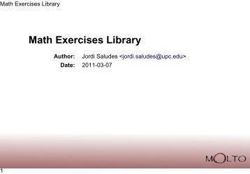 Math Exercises Library - Molto