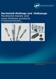Hartmetall-Rohlinge und -Halbzeuge Hardmetal blanks and semi ...