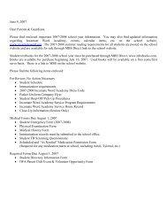 June 8, 2007 Dear Parents & Guardians, Please find enclosed ...