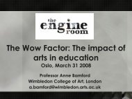 The Wow Factor: The impact of arts in education
