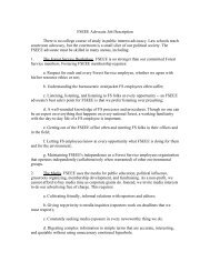 FSEEE Advocate Job Description There is no college course of ...