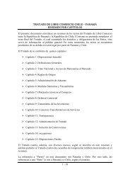 Tratado de Libre Comercio Chile- Panamá: Resumen por ... - SICE