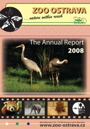 The annual report 2008 ( 2.70 MB ) - Zoo Ostrava