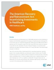 The American Recovery and Reinvestment Act: Incentivizing ... - AHA