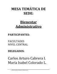 Bienestar - Universidad Nacional de Colombia