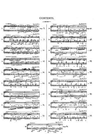 Page 1 Larghetto Op. 9' N9 L 1 y espress. Andante. dulce Op.9,N9 3 ...