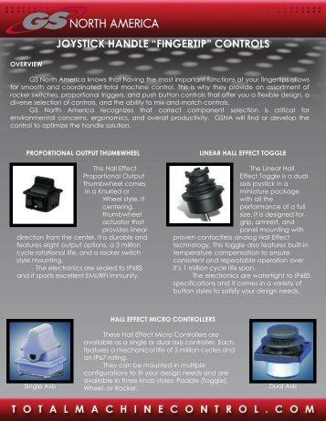 Joystick Fingertip Control Brochure - GS North America