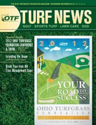 2012 OhiO Turfgrass fOundaTiOn COnferenCe & shOw... extending ...
