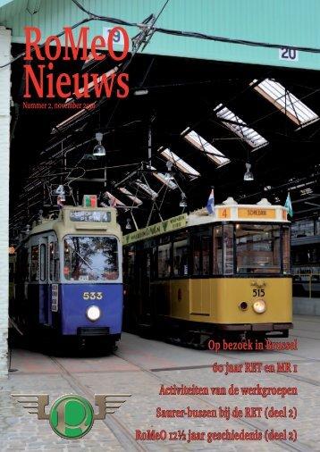 Op bezoek in Brussel 60 jaar RET en MR 1 ... - Stichting RoMeO