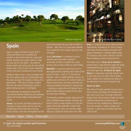 Spain - Golf Holidays
