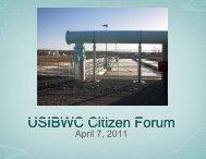 USIBWC Cit ti Fzen orum tizen Forum - International Boundary and ...