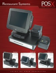 Restaurant Systems - POS systems