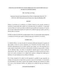 Estrategias de muestreo en el sistema hidráulico para ... - BVSDE