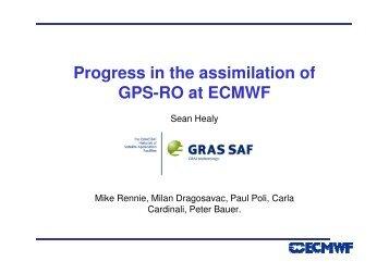 Progress in the assimilation of GPS-RO at ECMWF