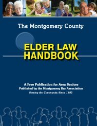 Montgomery County Elder Law Handbook 2013 - Montgomery Bar ...