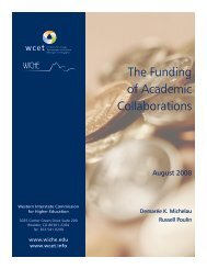 The Funding of Academic Collaborations - WCET - WICHE