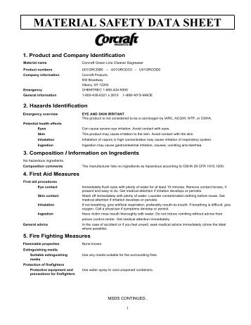 Green Line Cleaner Degreaser - Corcraft