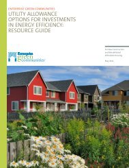 Utility AllowAnce options for investments in energy efficiency ...