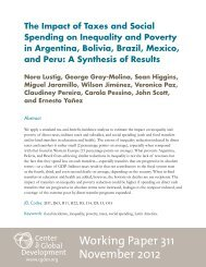 The Impact of Taxes and Social Spending on - Center for Global ...