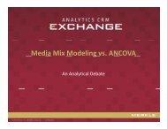 Media Mix Modeling vs. ANCOVA g - Merkle