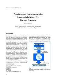 Forstyrrelser i den somatiske kjønnsutviklingen - Pediatrisk ...