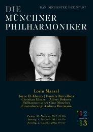 Programmheft herunterladen - Münchner Philharmoniker