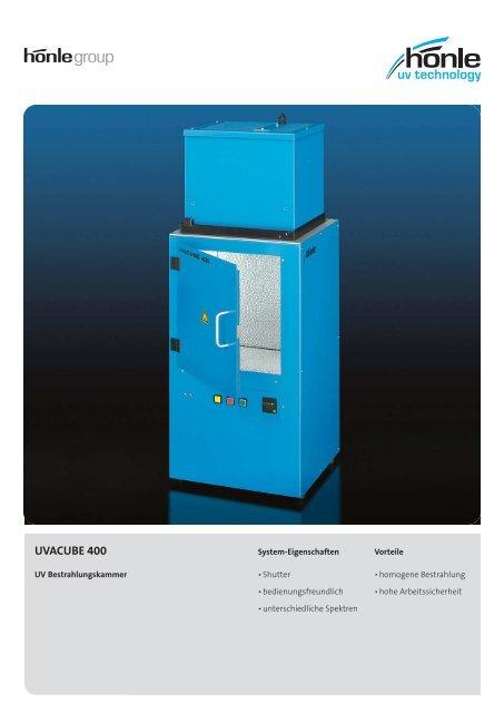 Produktinformation UVACUBE 400 - Dr. Hönle AG