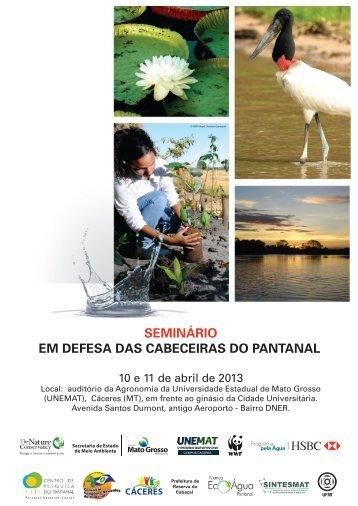 SEMINÁRIO EM DEFESA DAS CABECEIRAS DO PANTANAL