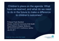 Childrens place on the agenda: What have we learned, and