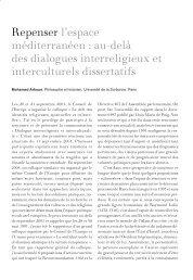 au-delà des dialogues interreligieux et interculturels ... - IEMed