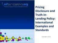 Prices - MFTransparency.org
