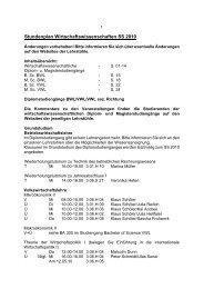 Stundenplan Wirtschaftswissenschaften SS 2010 - BWL-UP