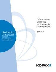 Kofax Capture Implementation White Paper - Solution Programs Portal