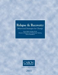 Relapse & Recovery: - sygdoms