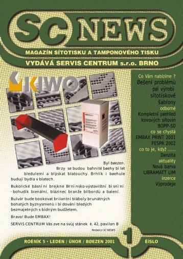 SC 2001 / 1 - SERVIS CENTRUM