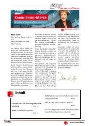 Bericht aus Berlin März 2010 - Karin Evers-Meyer